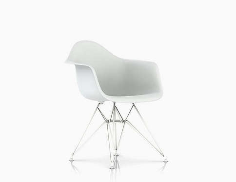 Pair of Eames Plastic Armshell Eiffel Chairs for Herman Miller