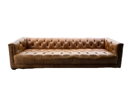 Restoration Hardware 9' Savoy Leather Sofa
