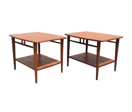 Pair of Teak End Tables