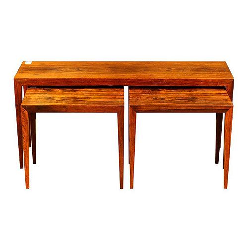Severin Hansen Jr. Rosewood Nesting Tables