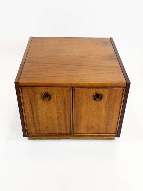 Midcentury Modern Walnut End Table or Storage Cabinet