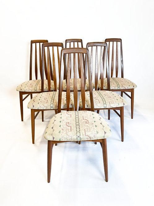 "Danish Modern Koefeds Hornslet ""Eva"" Dining Chairs"