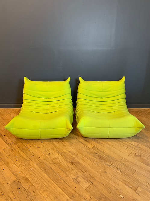 Togo Chairs by Ligne Roset, a Pair