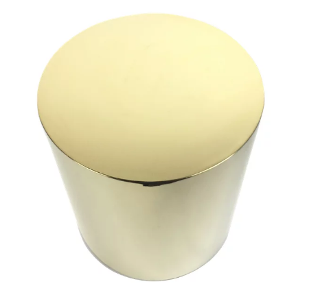 Interlude End Table, Polished Brass