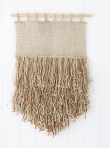 Wall Hanging - Jute & Leather Fringe