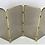 Thumbnail: Four Panel Brass & Smoked Glass Fire Screen-England
