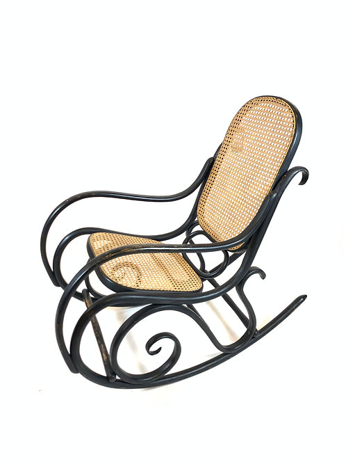 Thonet Cane and Bent Wood Rocking Chair