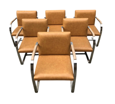 Vintage Mies Van Der Rohe Style Mr Chair - Set of 6