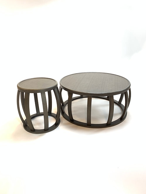 "BB Italia Maxalto ""Loto"" Smoked Oak Coffee and End Table by Antonio Citterio"