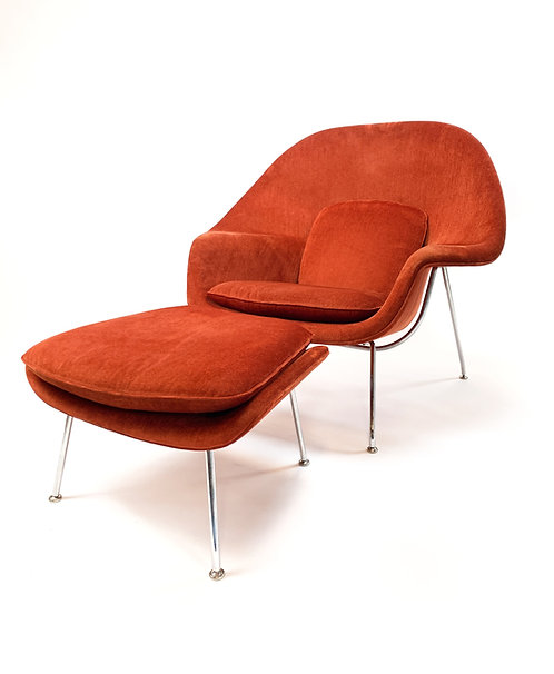 Knoll Inc Womb Chair and Ottoman by Eero Saarinen