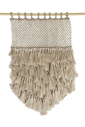 Jute Macrame Wall Hanging - Natural with Tassels