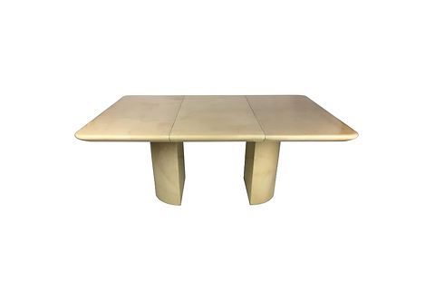 Fine Parchment Extension Dining Table by Ron Seff