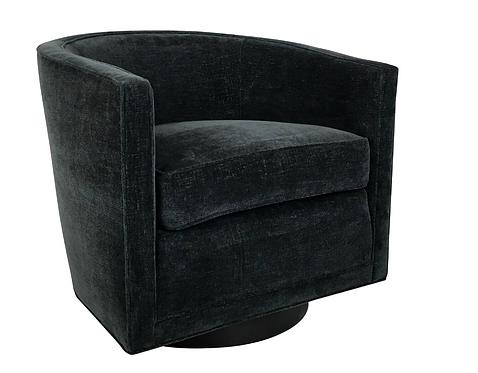 Handsome Swivel Barrel Chair by Edward Wormley for Dunbar