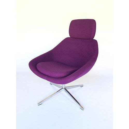 Allermuir Purple Swivel Chair