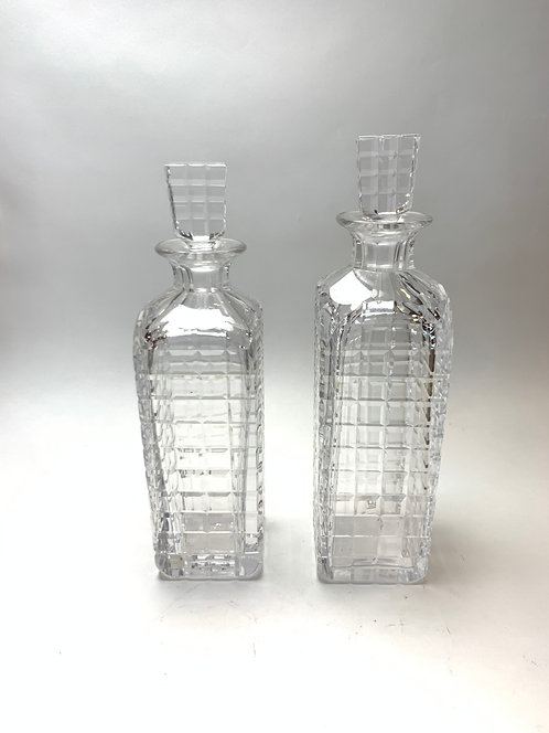 Kosta Swedish Glass Liquor Decanters ca 1970's