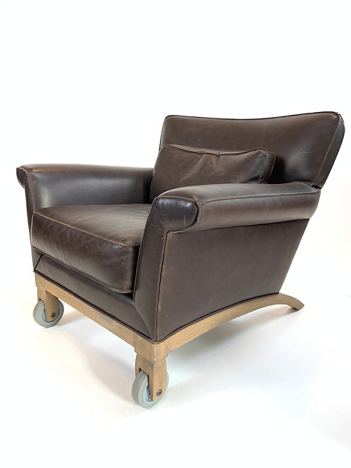 Pair of Ted Boerner Leather Lounge Chairs for The Gardener