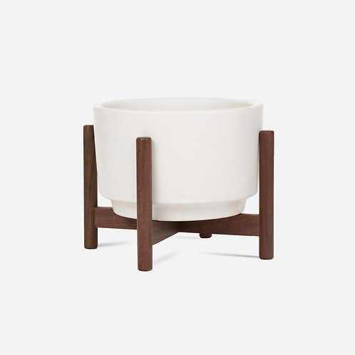 Case Study Raised Table Top Cylinder with Wood Stand