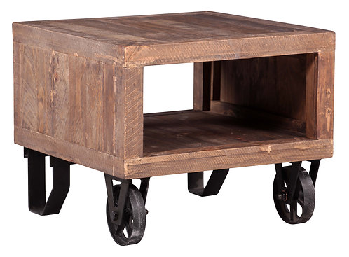 Stonemill Lamp Table on Wheels