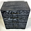 Thumbnail: Pair of Ebonized Cerused Oak Bachelors Chests with Brass Hardware