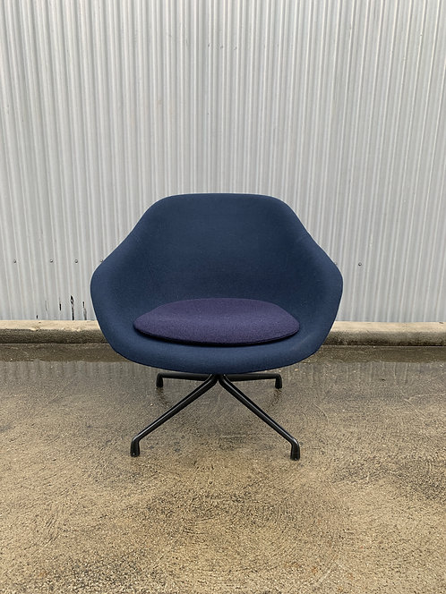 HAY About A Lounge 81 Swivel Chair, Blue Divina Melange