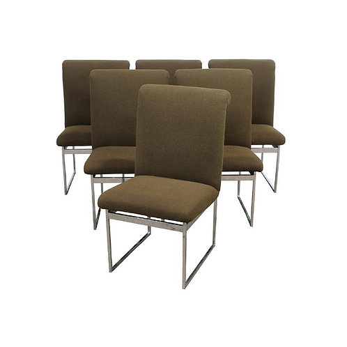 Milo Baughman Dining Chairs- (6)