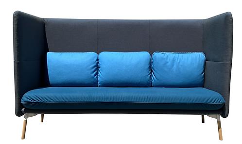 "Hightower ""Arlo"" Sofa in Three Tones of Blue"