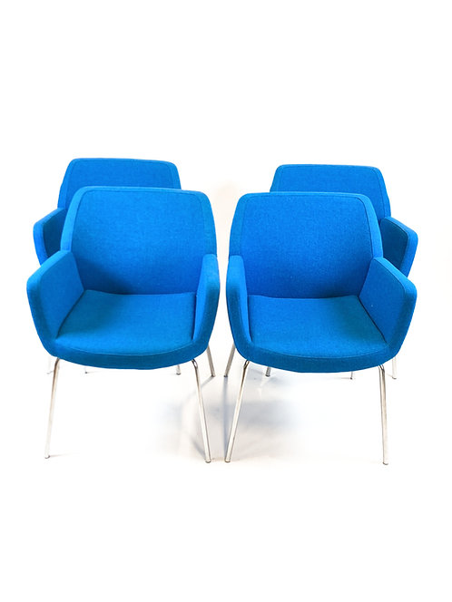 Coalesse Bindu Chairs, Maharam Kvadrat Hallingdhal