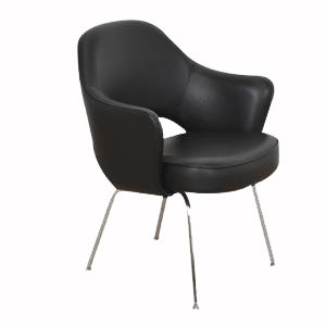 Set of Four Saarinen Executive Chairs for Knoll