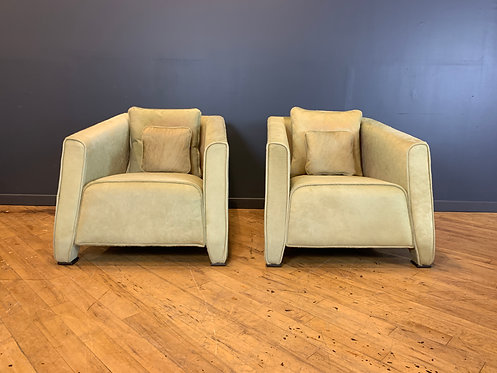 Prememoria Martini Chairs in Full Hide Leather (pair)