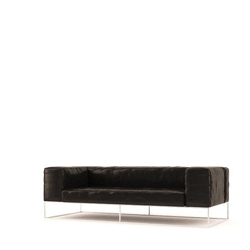 Living Divani ile cube Sofa w/Ottoman by Pierro Lissoni