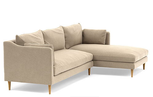 Interior Define Caitlin Right Chaise Sectional. Biscotti