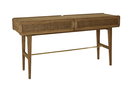 Brownstone Console Table with Two Drawers