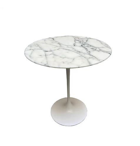 Eero Saarinen for Knoll Calacatta Marble Tulip Side Table