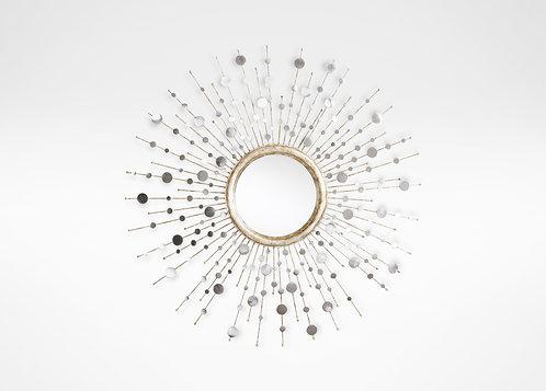 Sunburst Mirror in Silver