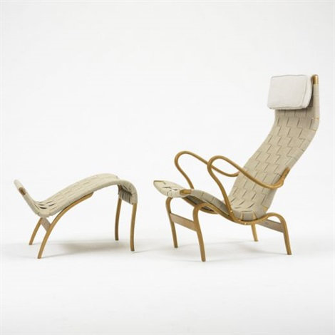 "Bruno Mathsson ""Pernilla"" Chair and Ottoman"