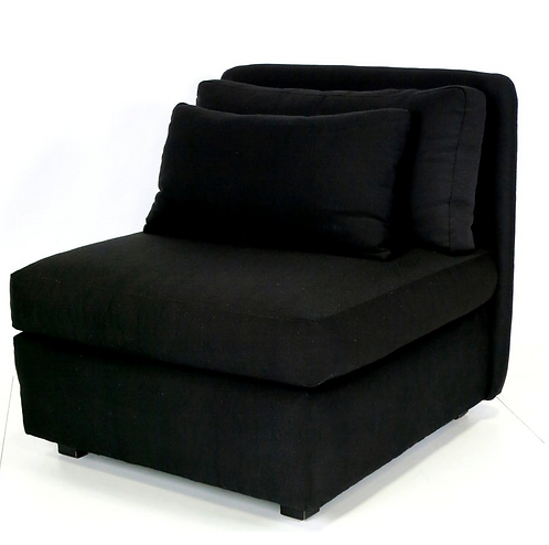 Chic Pair of Oversized Slipper Chairs by John Mascheroni for Bloomingdales
