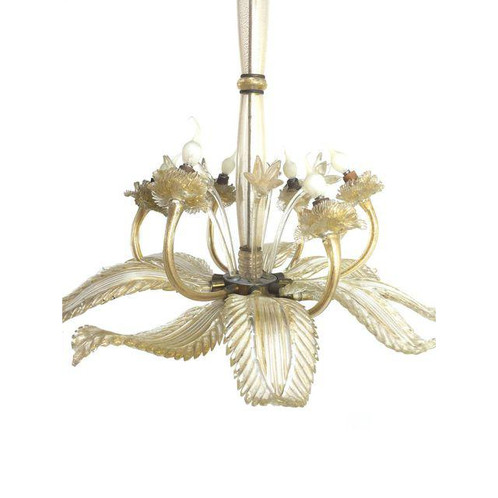 Barovier E Toso Leaf Form Chandelier | bayhomeconsignment