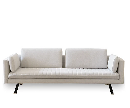 Palau Kylian Sofa Upholstered in Maharam Kvadrat Divina Melange Felted Wool