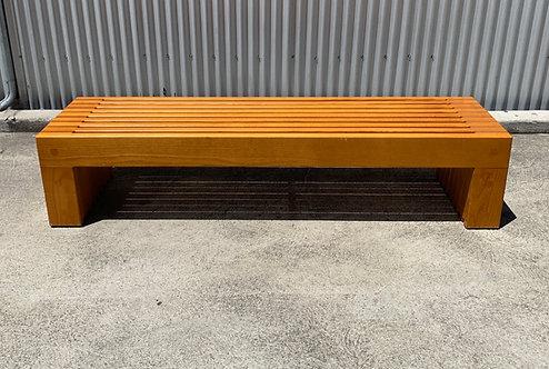 Oak Bench by Ricardo Legorretta, world renowned architect