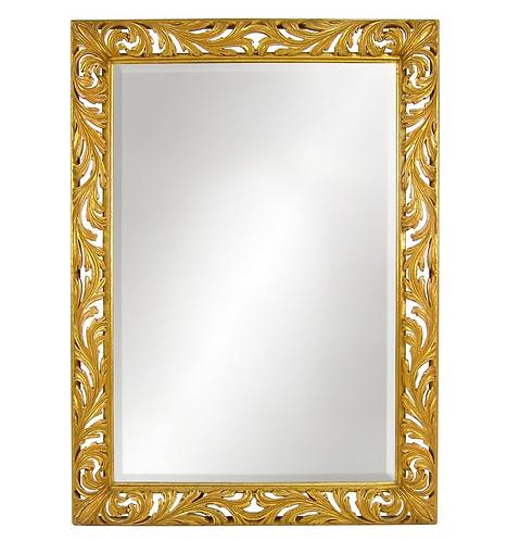 Large Pierced Foliate Gilt Wood Italian Mirror