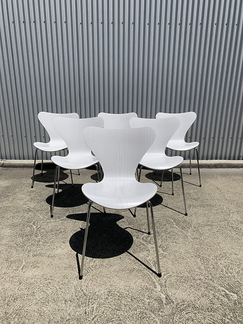 Fritz Hansen Series 7 Chairs in White (Lg Qty Available)
