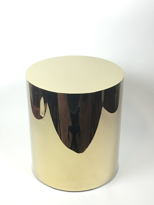 Interlude End Table Polished Brass