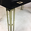 Thumbnail: Black Lacquer Writing Table with Brass Legs and Hardware