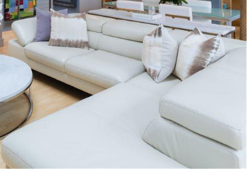 Italian Bone White Leather Sectional by Max Divani