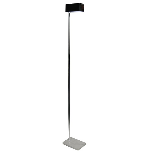 Mod 1970s Chrome and Marble Torchere by Casella