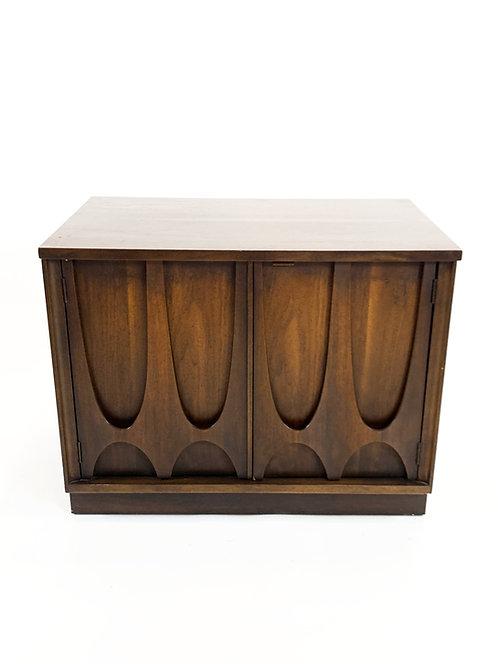 Vintage Mid Century Walnut Broyhill Brasilia Record Cabinet