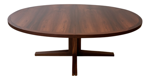 1960s Danish Modern Rosewood Extension Dining Table
