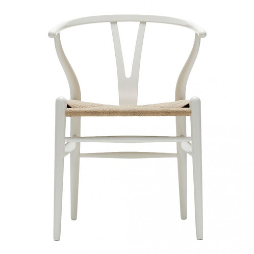 Wishbone Style White Chairs