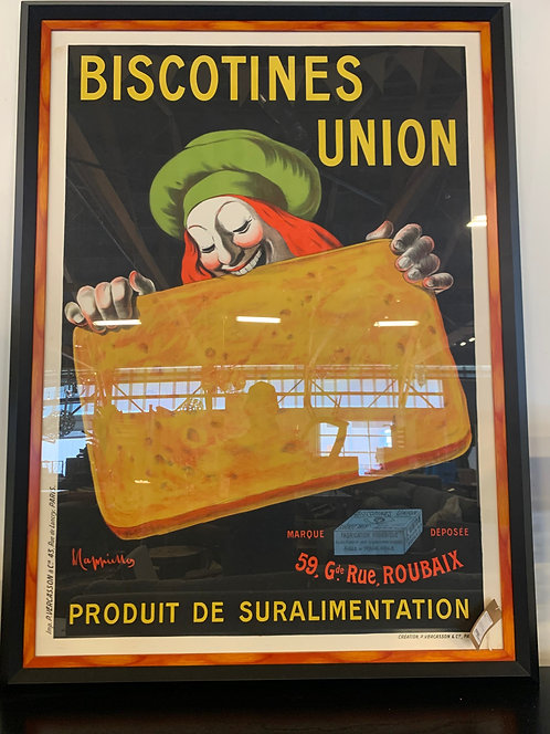 Vintage French Biscotines Poster