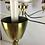 Thumbnail: Large Italian Brass Chandelier in the Style of Guglielmo Ulrich